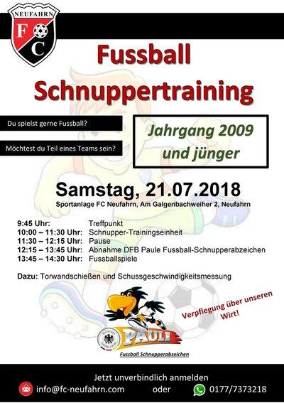 Schnuppertraining bild