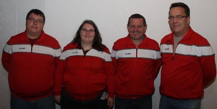 v. l. Michael Sigl (Technischer Leiter), Veronika Sigl (Schriftführerin), Christian Klöbel (Abteilungsleiter) und Thomas Holzinger (Kassenwart)