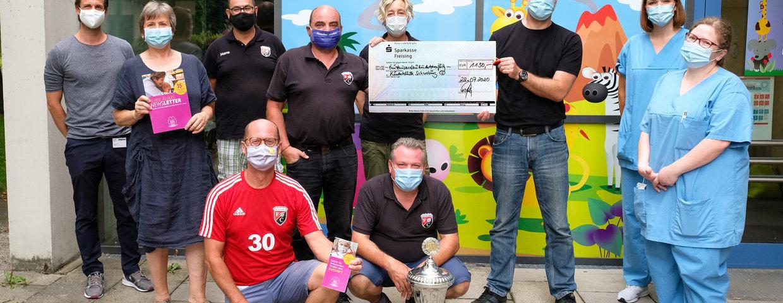 1130 Euro Spende an die Kinderkrebsstation Schwabing